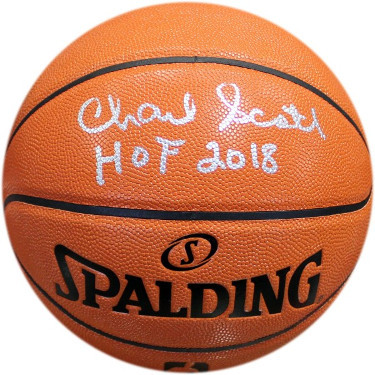 Charlie Scott signed Spalding NBA I/O Basketball HOF 2018 (Boston Celtics/Virgin