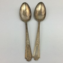 Rogers Bros 2 Large Serving Spoons 1847 Silver Plate 1924 ANCESTRAL 8.5 ... - $14.99