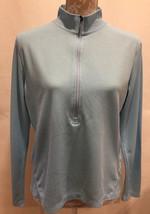REI Women's 1/2 Zip Top Blue Long Sleeve Outdoors Hiking Shirt Size L - $23.99