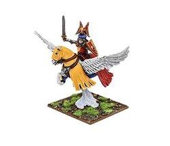 28mm Fantasy Albion's Noble on Pegasus (Fleur-de-lis)