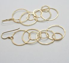 Drop Earrings 925 Silver Foil & Gold Circles by Mary Jane Ielpo Made in Italy image 6