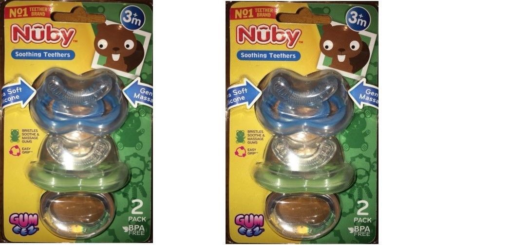 Primary image for Nuby Gum-eez First Teether 2-Pack(pack of 2)Total 4