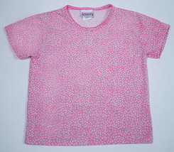 BASIC IMAGE GIRLS SMALL 6 6X PINK WHITE DAISY DAISIES FLOWER FLORAL TOP ... - $4.94