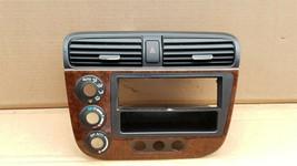 01-05 Acura EL Honda Civic Radio Bezel AC Climate Control Dash Vents WoodGrain