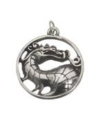 SALE Mortal Kombat Solid Sterling Silver 925 Dragon Charm Pendant MK X J... - $24.60