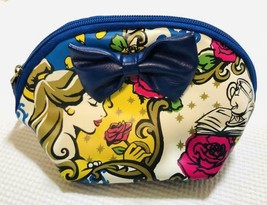 Tokyo Disney Resort Beauty and the Beast Bell Cosmetic pouch Pochette ca... - $51.48