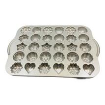 Nordic Ware Mini Tea Cake & Candies Bundt Pan Roses Stars Floral Hearts ... - $19.79