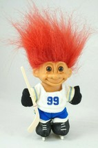 Vintage Russ Troll Doll Hockey Player #99 Wayne Gretzky With Red Hair Sk... - $14.03
