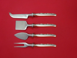 Flower Lane by Oneida Sterling Silver Cheese Serving Set 4 Piece HHWS  Custom - $247.10