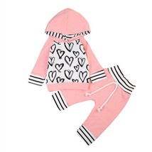 Cute Newborn Kids Baby Girl Clothes Warm Hooded T shirt Tops+Pants Outfi... - $10.99