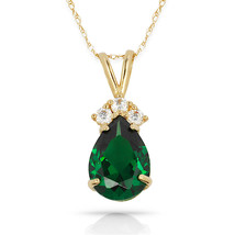 4.20 CT Halo Emerald Double Coeur Gemme Pendentif /& Collier 14K or Blanc