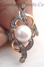 Victorian 0.63ct Rose Cut Diamond Pearl Wedding Charming Very Pretty Ring - $206.64
