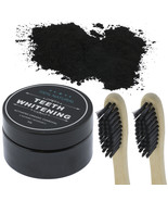 Organic Coconut Activated Charcoal Toothbrushes & Natural Teeth Whitenin... - $10.99