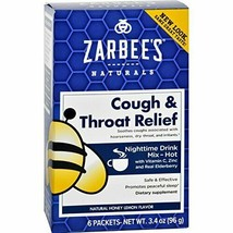 Zarbee's Naturals Cough and Throat Relief Honey Lemon Nighttime Drink Pa... - $15.04