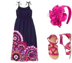 NWT Gymboree Girls Spice Market Maxi Dress/Sandals/Headband Size 10 - $54.99