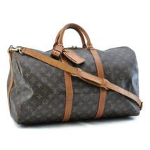 LOUIS VUITTON Monogram Keepall Bandouliere 50 Boston Bag LV Auth 8053 - $498.00