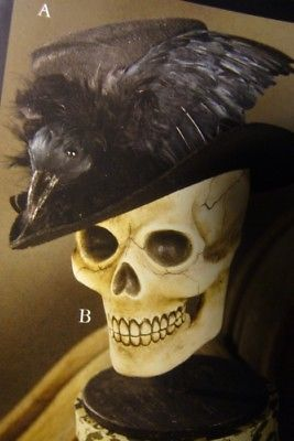 Bethany Lowe Haunted Raven Top Hat