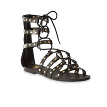 size New Up Gladiator 8 Flat Sandals Lace or 7 SM Women's Meredith Black Ipx0nrzpO