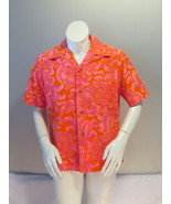 Vintage Hawaiian Aloha Shirt - Psychedelic Neon Pink Pattern - Men's Medium - $65.00