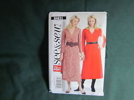 BUTTERICK B4831 MISSES MOCK WRAP DRESS SEWING PATTERN SIZE 6 TO 12 - $5.50