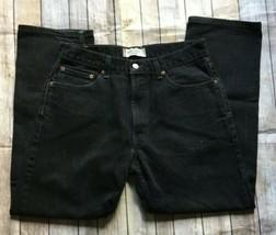 Levi's 505 Black Denim Regular Fit Men's Red Tab Straight Leg Jeans Size... - $20.53