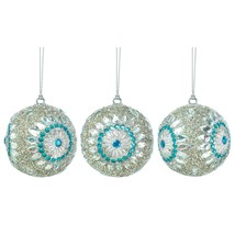 Ornament Balls, Silver Blue Glass Ball Ornaments Plastic For Christmas Tree - $33.99