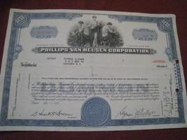 vintage 1965 single share common stock certificate Phillips-Van Heusen C... - $10.86