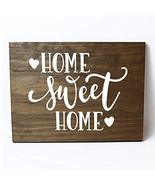 Home Sweet Home with Hearts Solid Pine Wood Wall Plaque Sign Home Decor - $19.80
