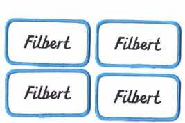 Lot of 4 New Filbert name patches Sew on tag 4 1/8 x 2 1/4 inches  - $8.89