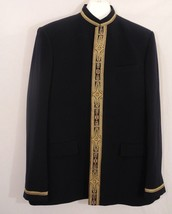 Diwan Saheb Embellished Wedding Jacket Blazer Linen Wool Silk Size 60 Me... - $296.99