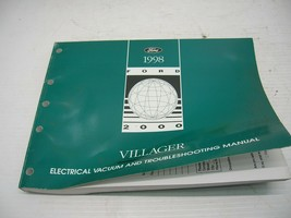 OEM 1998 Ford MERCURY VILLAGER ELECTRICAL WIRING VACUUM MANUAL - $9.89