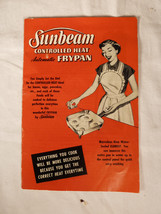 Vintage Sunbeam Automatic Frypan Original Instruction Manual  - $8.80