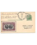 Navy Ship Cancel 1947 USS De Haven DD 727 CIPEX Poster Stamp Cinderela UX27 - $6.69