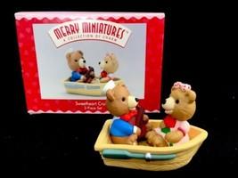 1996 Hallmark Holidays Merry Miniatures Sweetheart Cruise Figurine Teddy Bears - $10.13