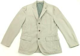 "Ralph Lauren Newport Sports Blazer Jacket Light Grey Custom Fit 40"" R Mens - $205.59"