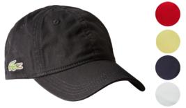 New Lacoste Men's Classic Baseball Premium Cotton Croc Logo Adjustable Hat Cap