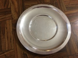 "Vintage REED & BARTON #100 Marked Heavy Silver Plated BREAD PLATE 7"" - $17.37"
