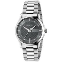 Gucci YA126523 Grey Dial Stainless Steel Strap Ladies Watch - $664.99