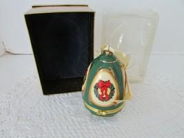 "Mr.Christmas Musical Glass Ornament Trinket Box Valerie Green Wreath 4.25""H Mib - $18.76"