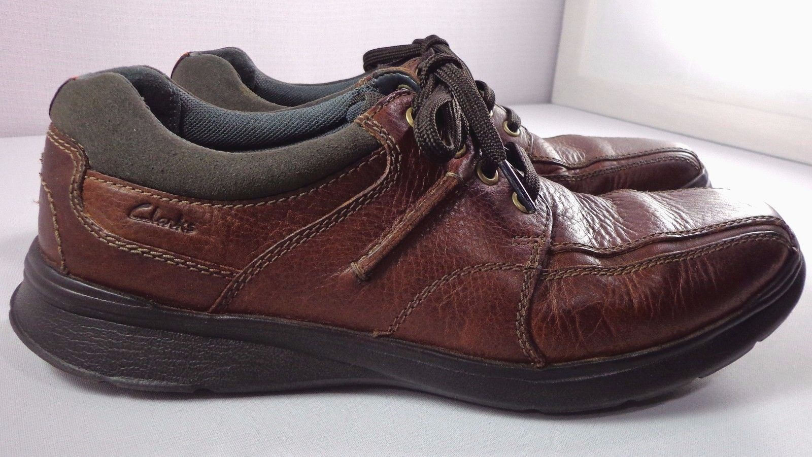 Mens Clarks Brown Leather Oxfords Size 10 M and 50 similar items e9a35f88c
