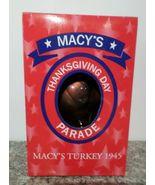 2000 Macy's Thanksgiving Day Parade Turkey Glass Christmas Ornament - $27.95