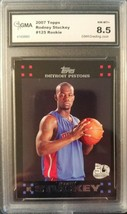 Rodney Stuckey 2007-08 Topps #125 Graded GMA 8.5 Detroit Pistons Basketb... - $2.38