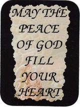"""May The Peace Of God Fill Your Heart 3"""" x 4"""" Love Note Inspirational Sayings Poc - $2.69"""