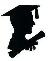 "6 pieces Boy Graduate Silhouette 8"" x 12"" by Beistle, decoration pin up - $8.90"