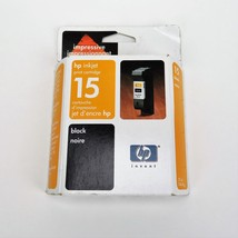 HP C6615DC #15 Black Ink Cartridge Genuine Inkjet Sealed EXPIRED 2004 New - $10.00