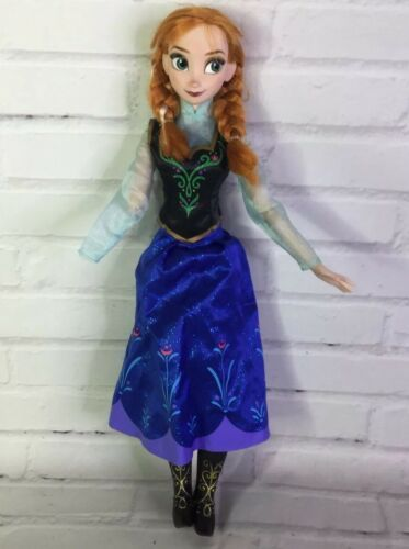 "Primary image for Disney Store Frozen Anna 16"" Articulated Singing Doll & Clothes Flawed For OOAK"