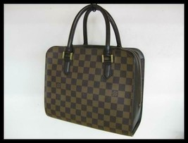 5254T Auth Louis Vuitton Damier Triana N51155 handbag - $784.37