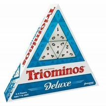 Tri-Omino's Game, Triangular Matching Numbers on 3 Sided Tiles w/ Brass Spinners - $46.45