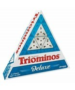 Tri-Omino's Game, Triangular Matching Numbers on 3 Sided Tiles w/ Brass ... - $70.46