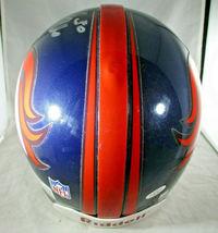 TERRELL DAVIS / AUTOGRAPHED DENVER BRONCOS NFL PRO LINE FOOTBALL HELMET / COA image 6